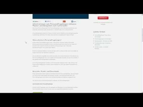 tipps zum personalfragebogen inklusive muster und beispielen zum runterladen - Personalfragebogen Muster