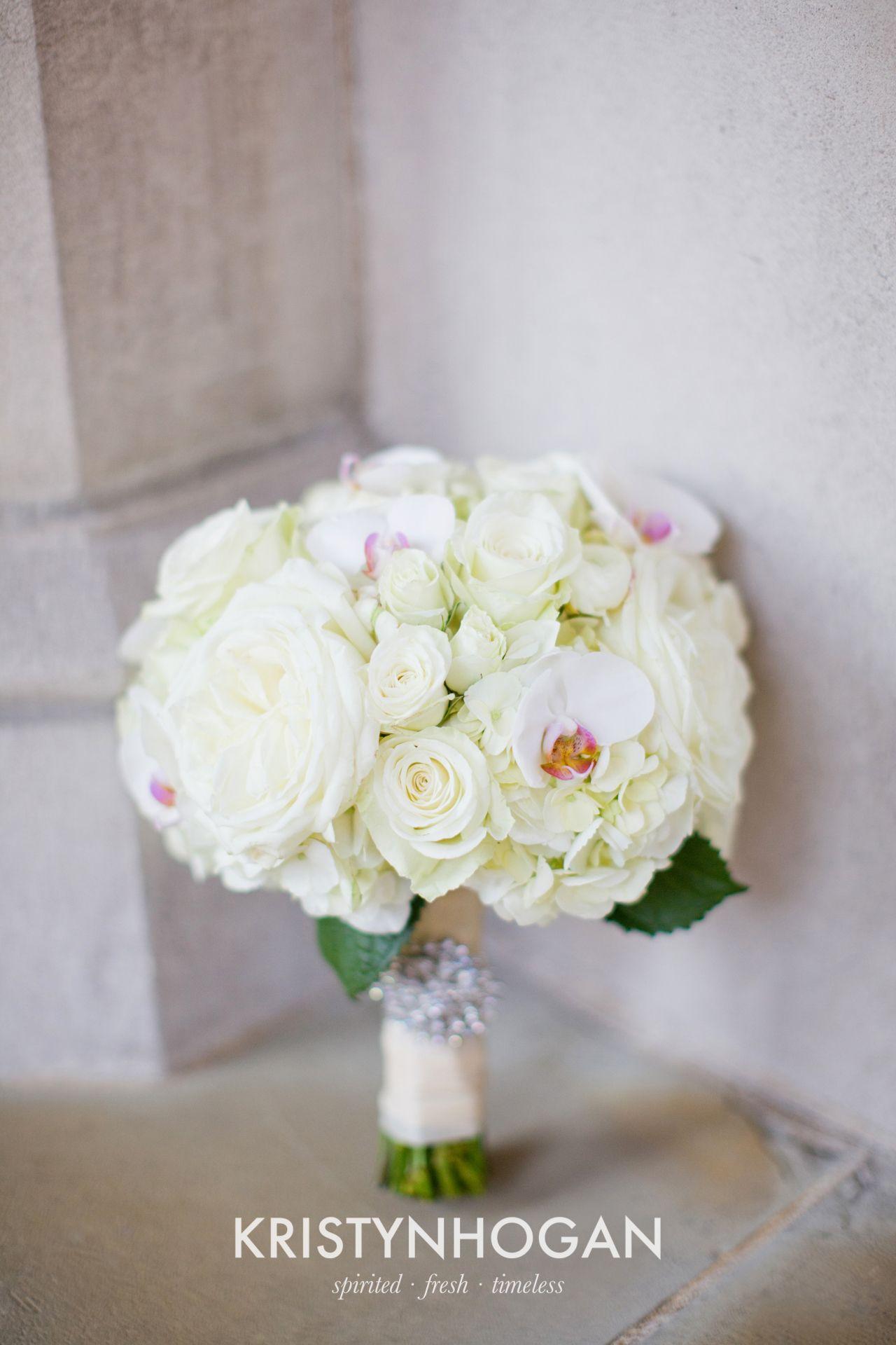 white hydrangea garden rose and orchid bouquet brocade designsbrocade designs