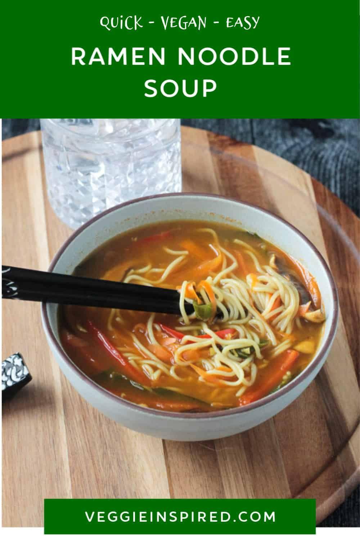 Vegan Ramen Noodle Soup 30 Minute Recipe Recipe In 2020 Recipes Vegan Recipes Easy Easy Vegan Dinner