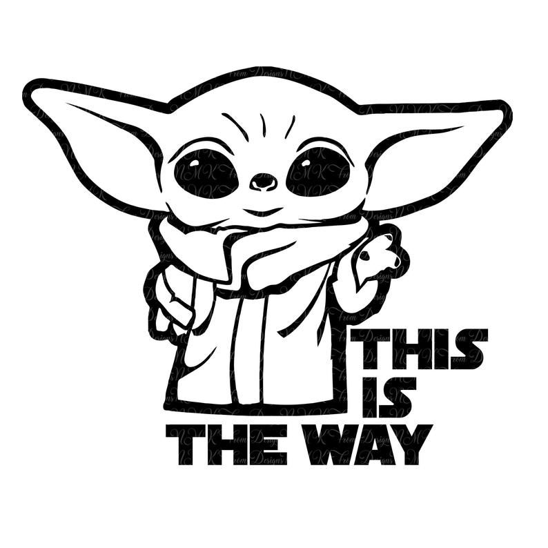 Baby Yoda This Is The Way Star Wars Logo Svgepspdfdxf Png Etsy In 2020 Yoda Decals Yoda Images Yoda Drawing