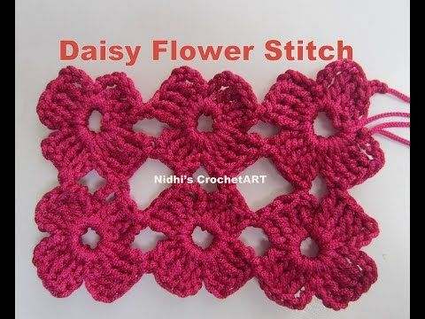 How to Crochet the Daisy Stitch Better Version Tutorial - YouTube