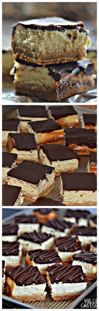 DULCE DE LECHE CHEESECAKE BARS WITH CHOCOLATE GLAZE!