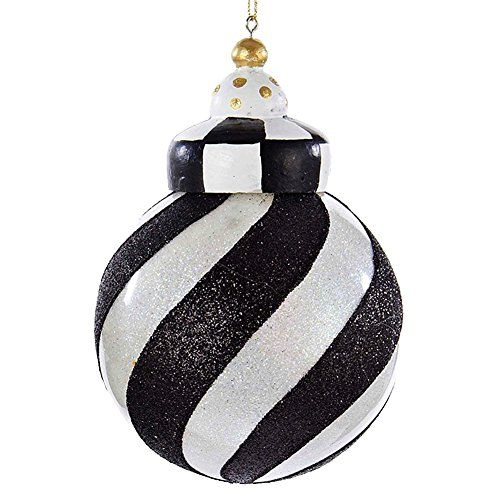 Christmas Ornament Black And White Striped Ball D2303 Swi Kurt Adler Christmas Ornaments Top Brands Artists Designer Names Black White Christmas Christmas Ornaments Black And White Decor