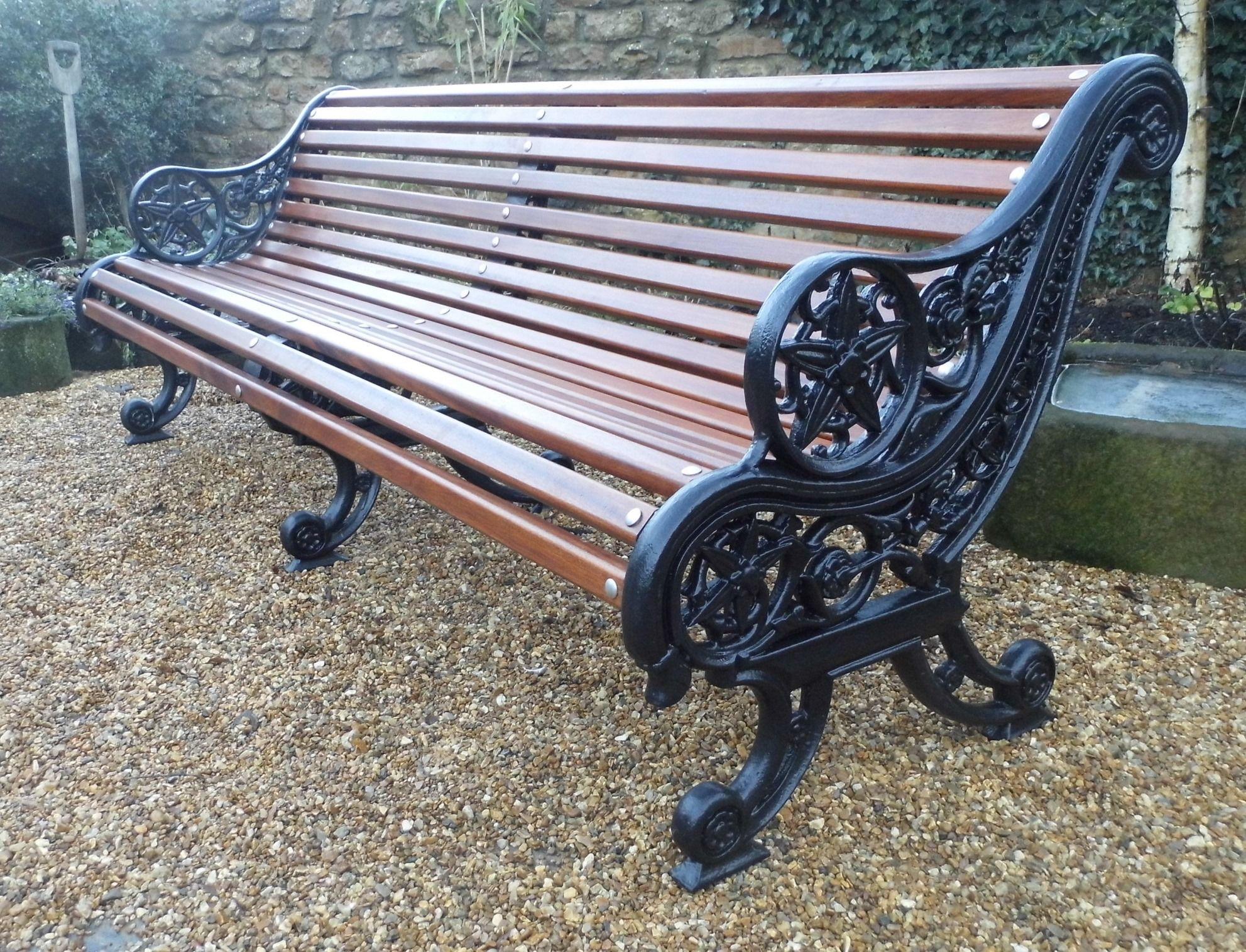 Falkirk Ironworks Park Bench, seven foot long. | Cast iron ...
