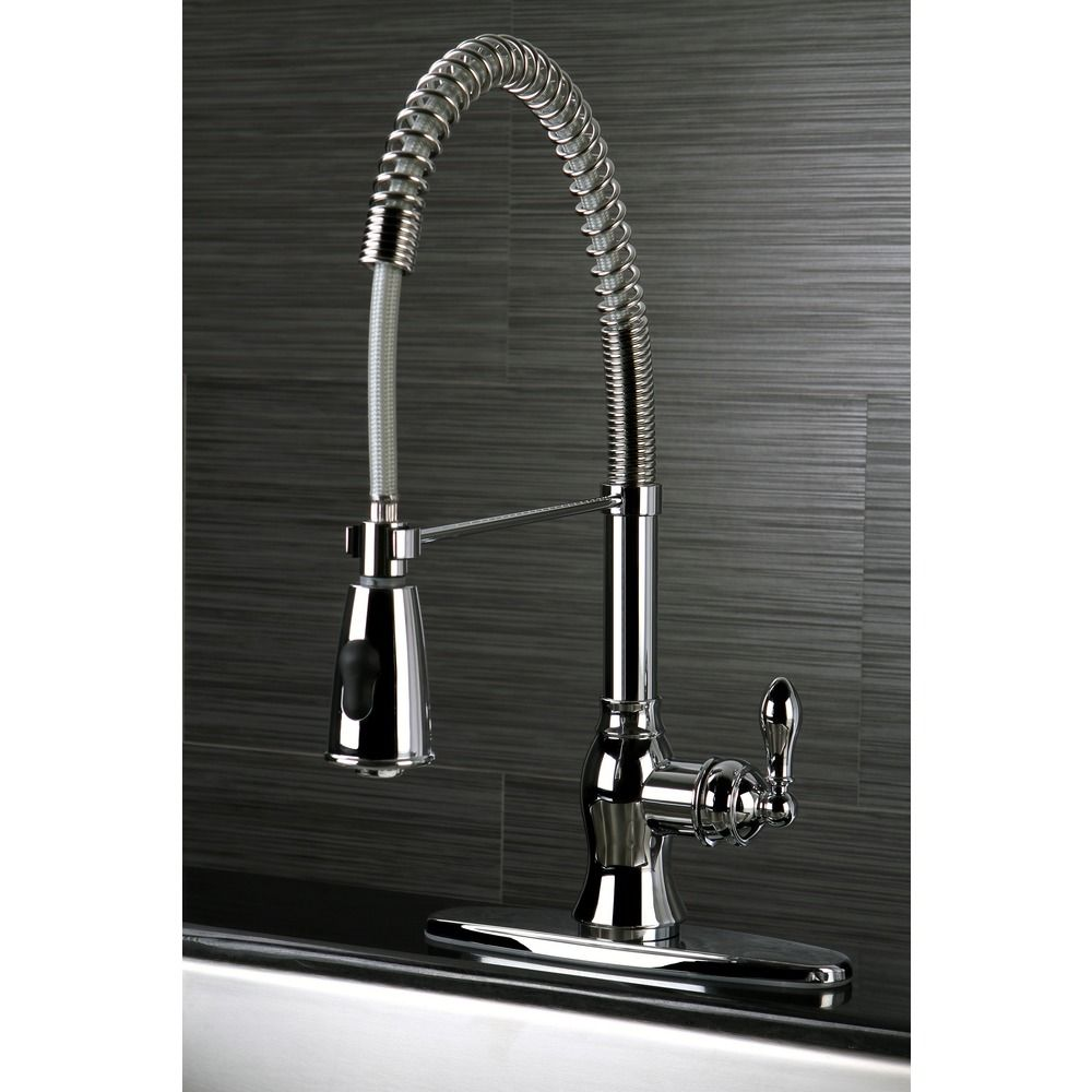 american classic modern chrome spiral pull down kitchen faucet rh pinterest com