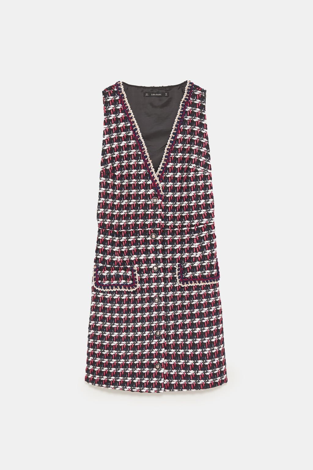 68b4c275 Image 8 of TEXTURED DRESS WITH TRIMS from Zara | Wardrobe - Brands ...