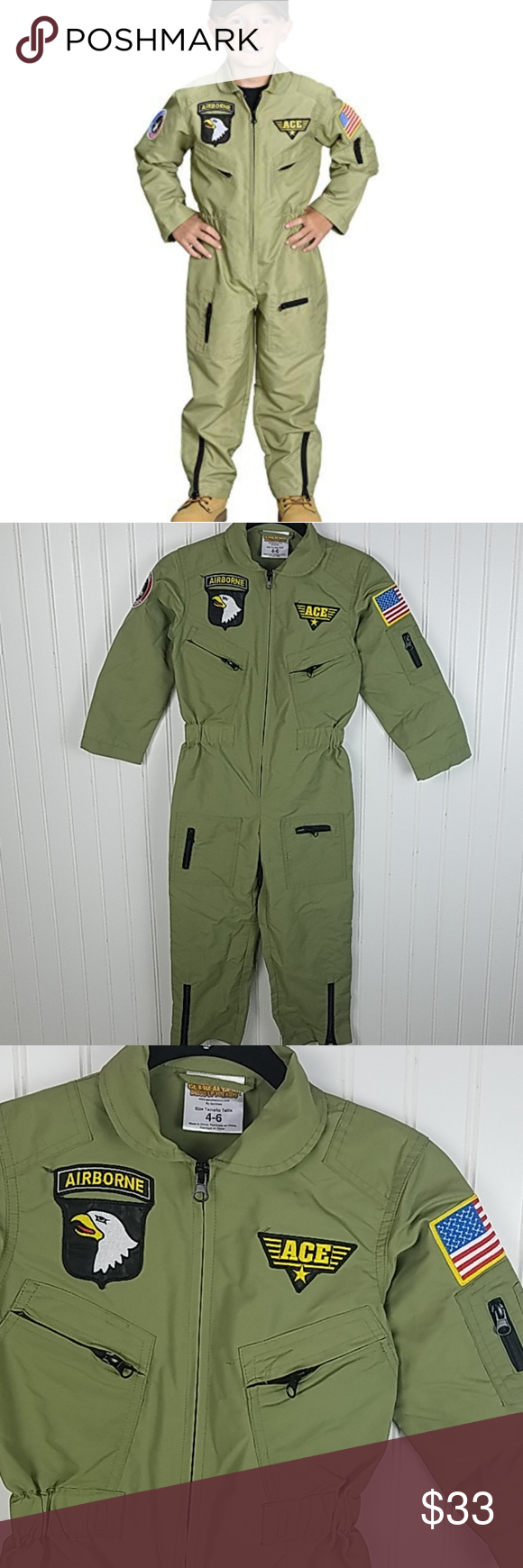 SOLD ON EBAY Get Real Gear Air Force Suit Kids 46 in 2020