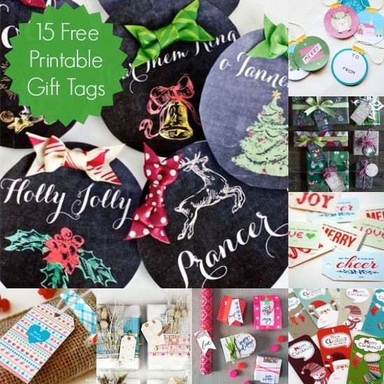 15 Festive and Free Printable Holiday Gift Tags. Wow, these are so cute! One thing off of my Christmas shopping list!