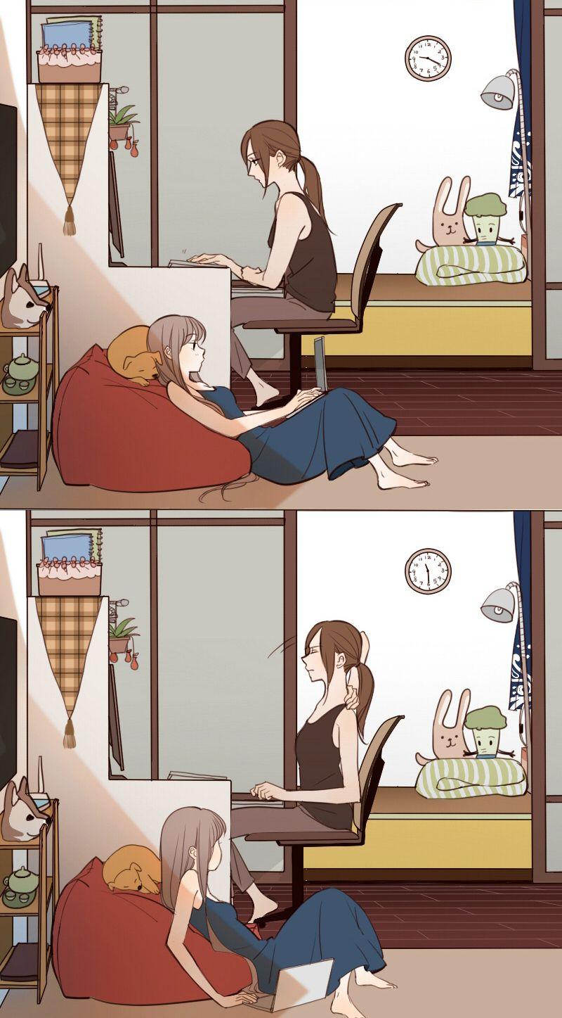 Ch.8 Page 5 - Mangago   Yuri anime, Yuri manga, Lesbian art
