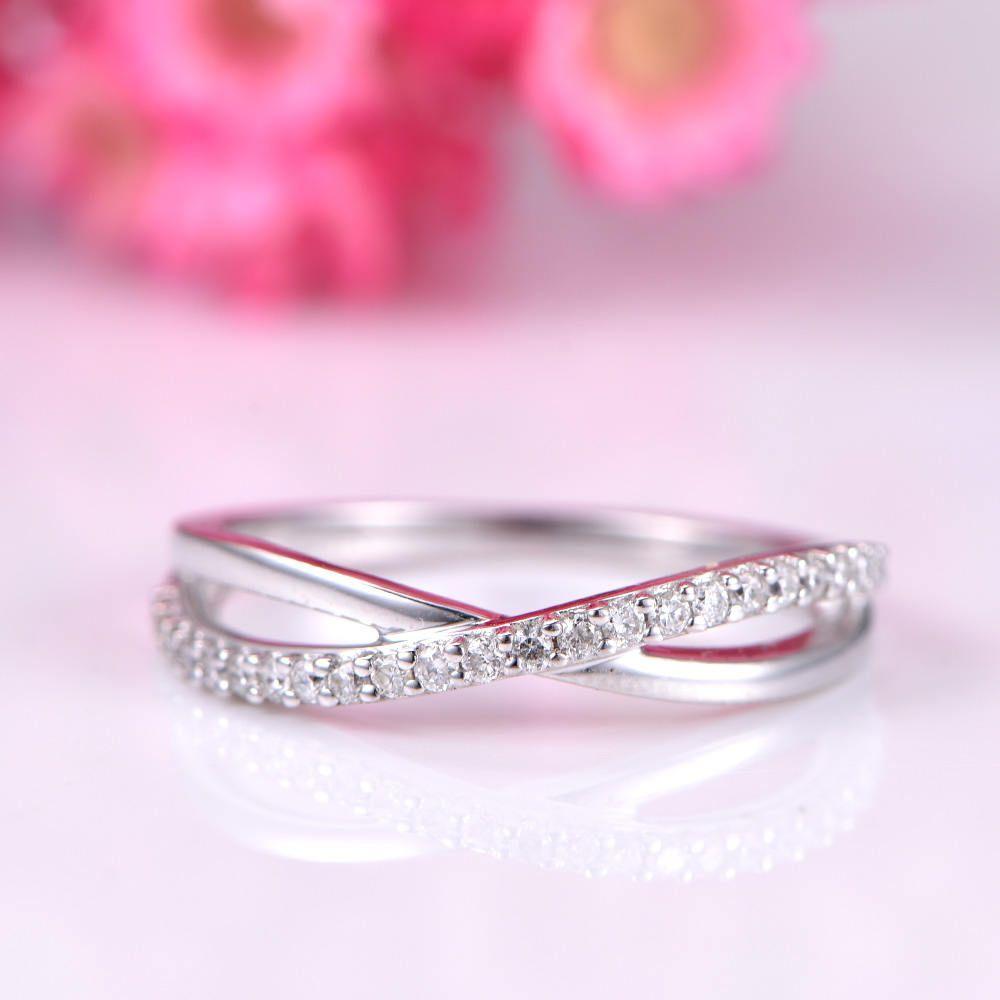 Diamond wedding band diamond engagement ring half eternity ring ...
