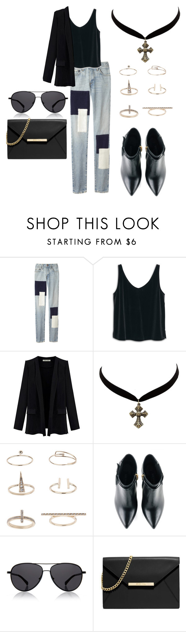 """patches"" by timmology on Polyvore featuring Simon Miller, MANGO, Charlotte Russe, Topshop, Kim Kwang, The Row and MICHAEL Michael Kors"