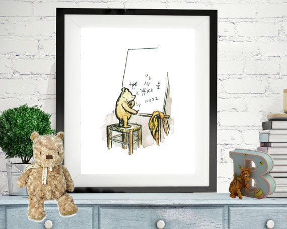 Pooh Bear Nursery Décor Clic Winnie The Print Mathematics