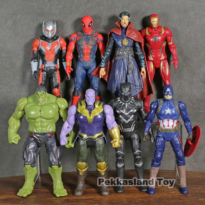 8pcs Marvel Avengers Thanos Bat Iron Men Captain America Thor Hulk Figures Set