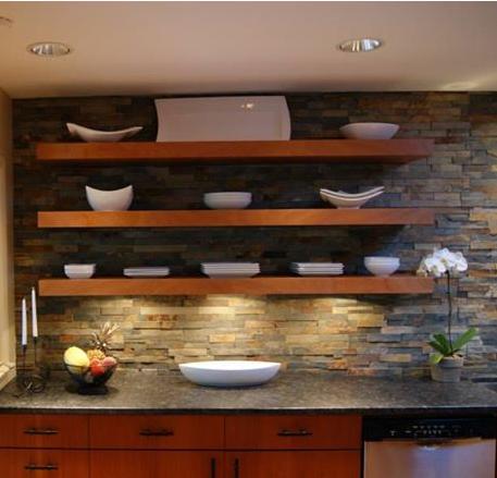 frank lloyd wright inspired kitchen remodel. designed