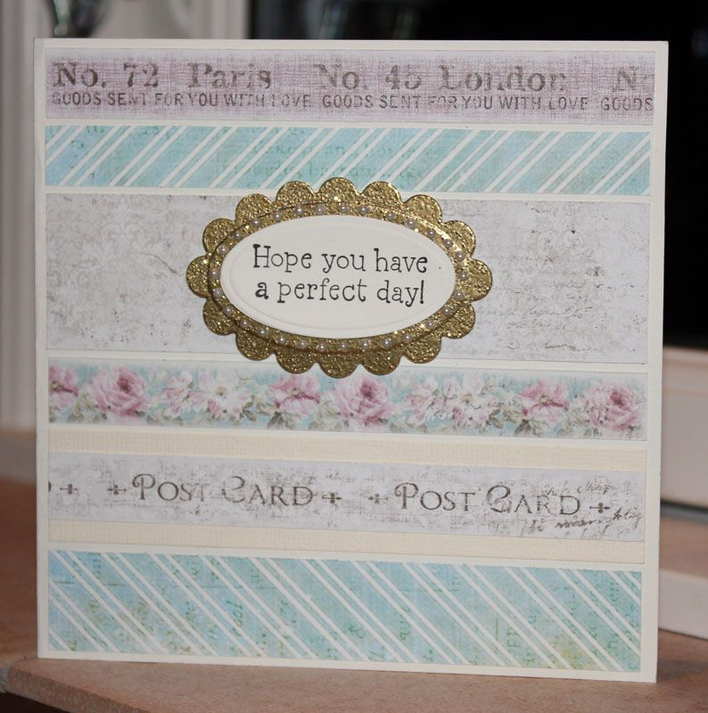 card from scraps.