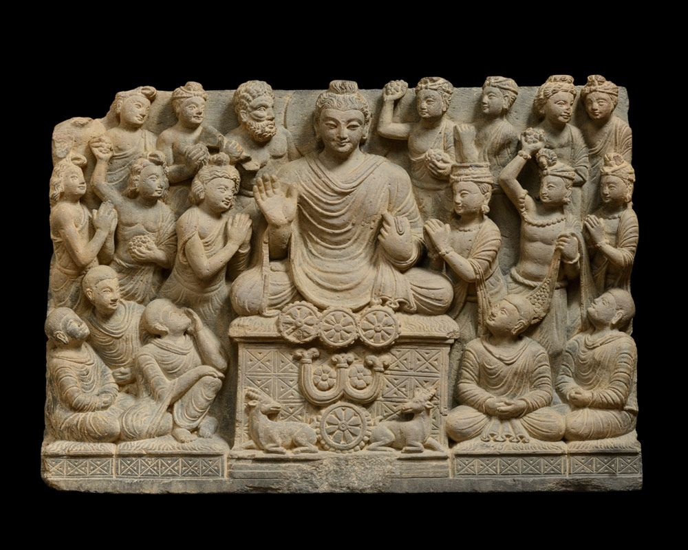 The Buddha's First Sermon Gandhara region, North-eastern Pakistan ...