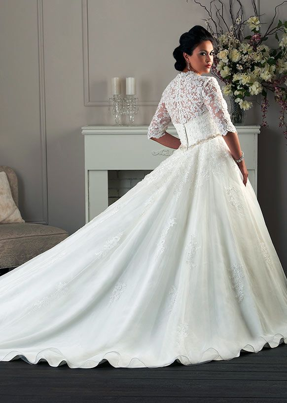 0a 09 Plus Size Wedding Dress Of The Week Bonny Bridal Style 1404 Im In Love With This