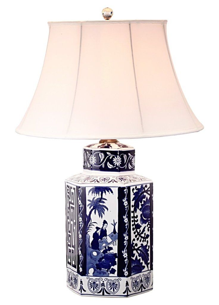 Blue Willow Table Lamp Grandma Loves It