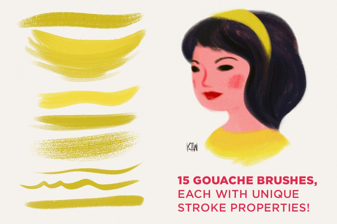 Kyle S Gouache Brushes For Photoshop By Kyle S Pro Design Tools On