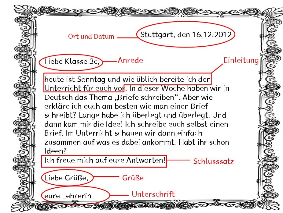 ผลการค้นหารูปภาพสำหรับ Briefe schreiben Deutsch | daf | Pinterest ...
