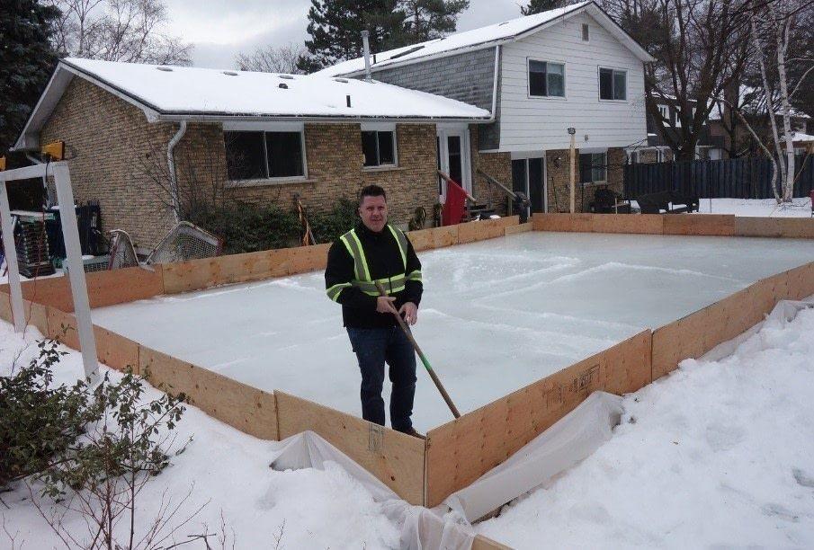 Diy backyard skating rink backyard unique buildings