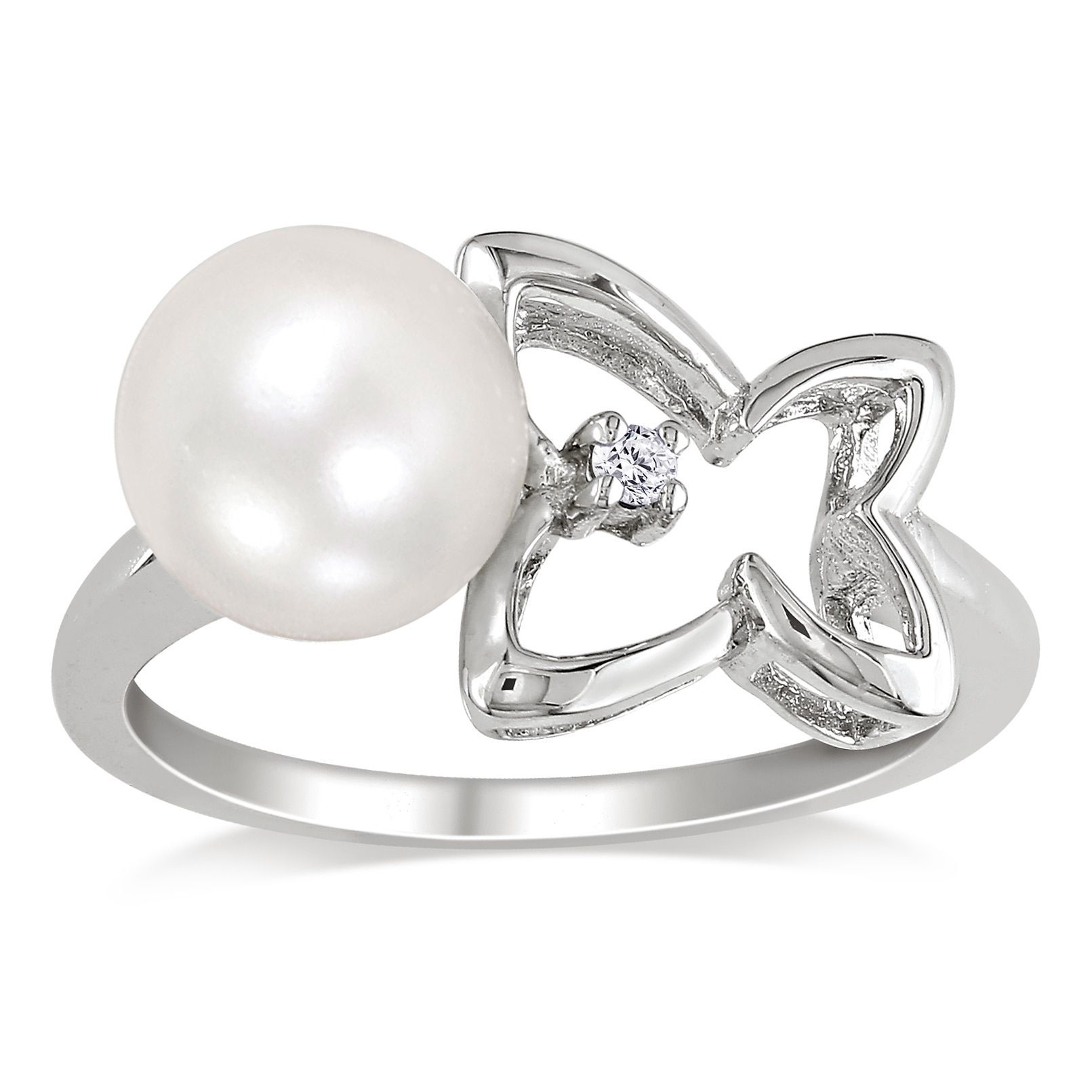 pin ring hautelook engagement silver freshwater on diamond pearl rings flower sterling