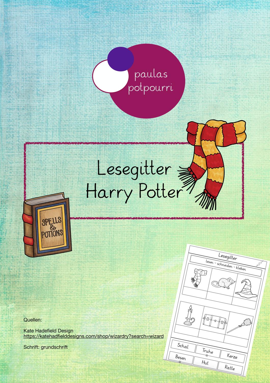 Lesegitter Harry Potter Unterrichtsmaterial Im Fach Deutsch Lesen Unterrichtsmaterial Harry Potter