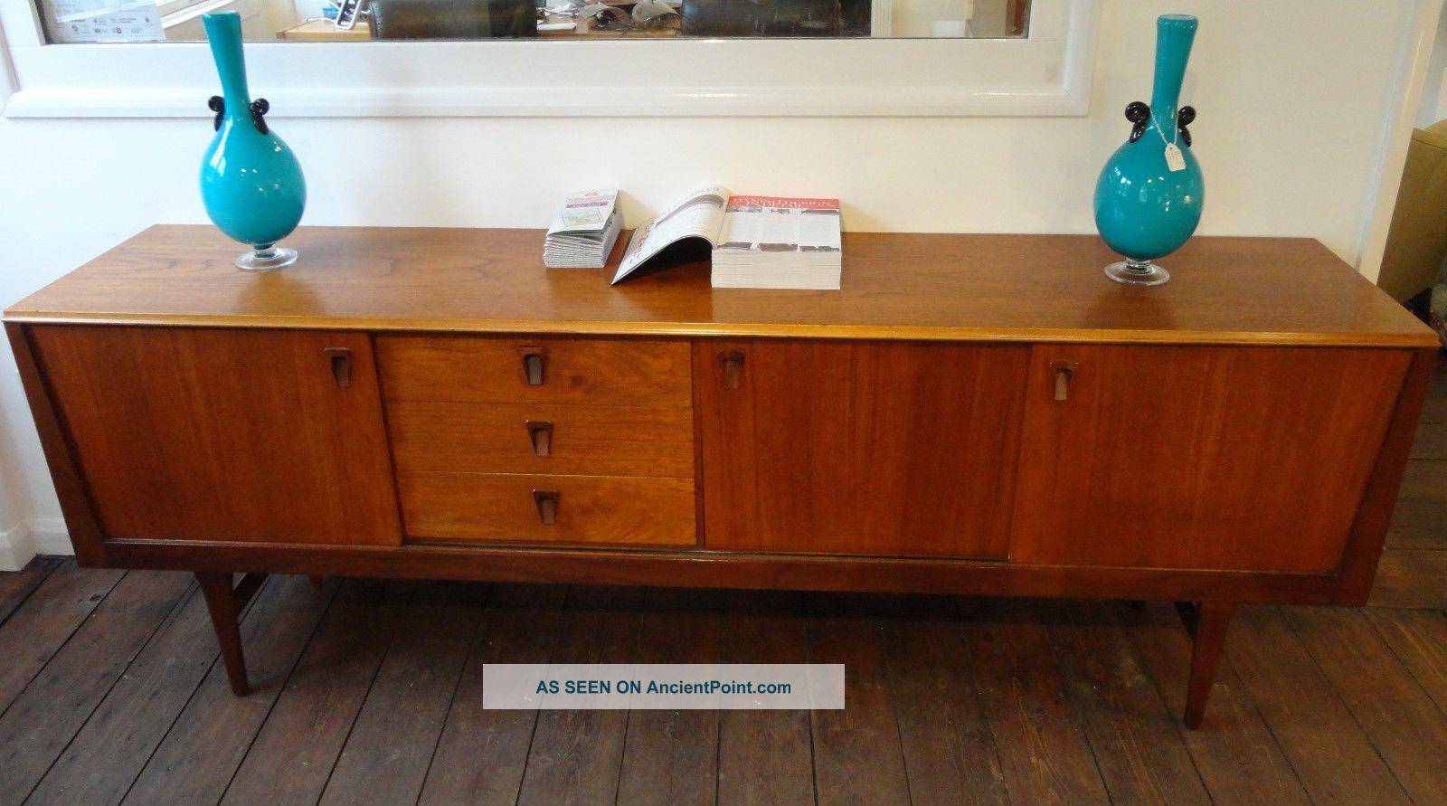 Vintage low teak sideboard w sliding doors 3 drawers danish vintage low teak sideboard w sliding doors 3 drawers danish 1960 s vtopaller Gallery