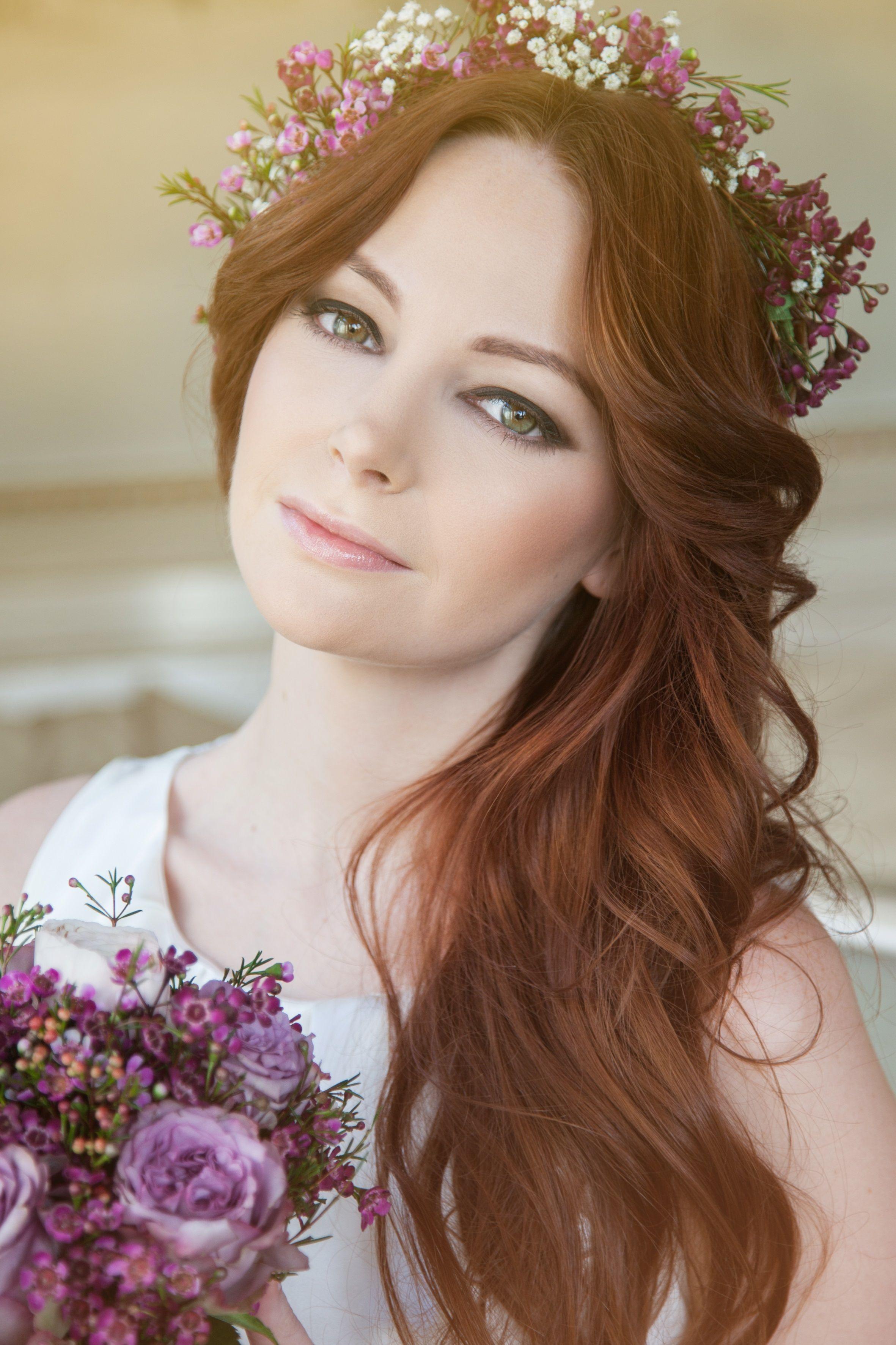 Braut haarschmuck blume  Labude - Blumenkranz Flower Crown Braut Haarschmuck Blütenkranz ...