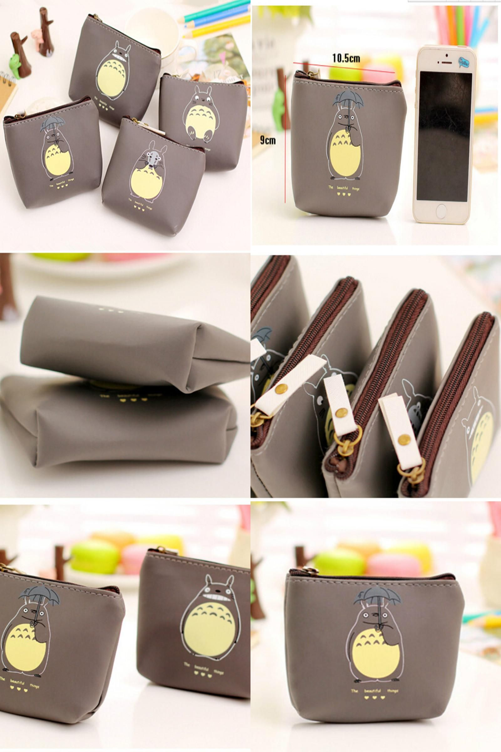 e45b8ce3ce8c9e [Visit to Buy] TOTORO PU Leather Small Wallet Chinchilla Coin Purse Adult  Baby Boys Kids Cute Waterproof Storage Bag Key Pouch #Advertisement