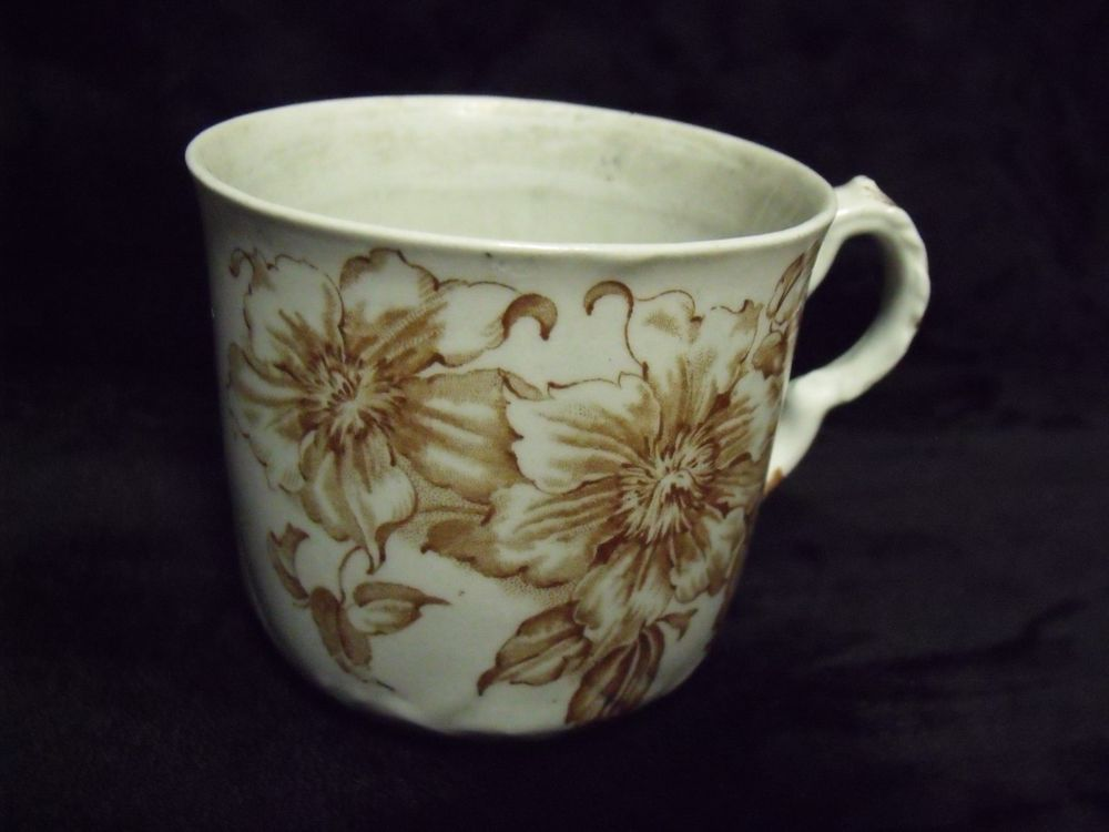 Antique dudson wilcox and tilley brown transferware clematis coffee ...