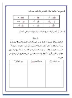تدريبات على المد Muslim Kids Activities Student Activities Reading Series
