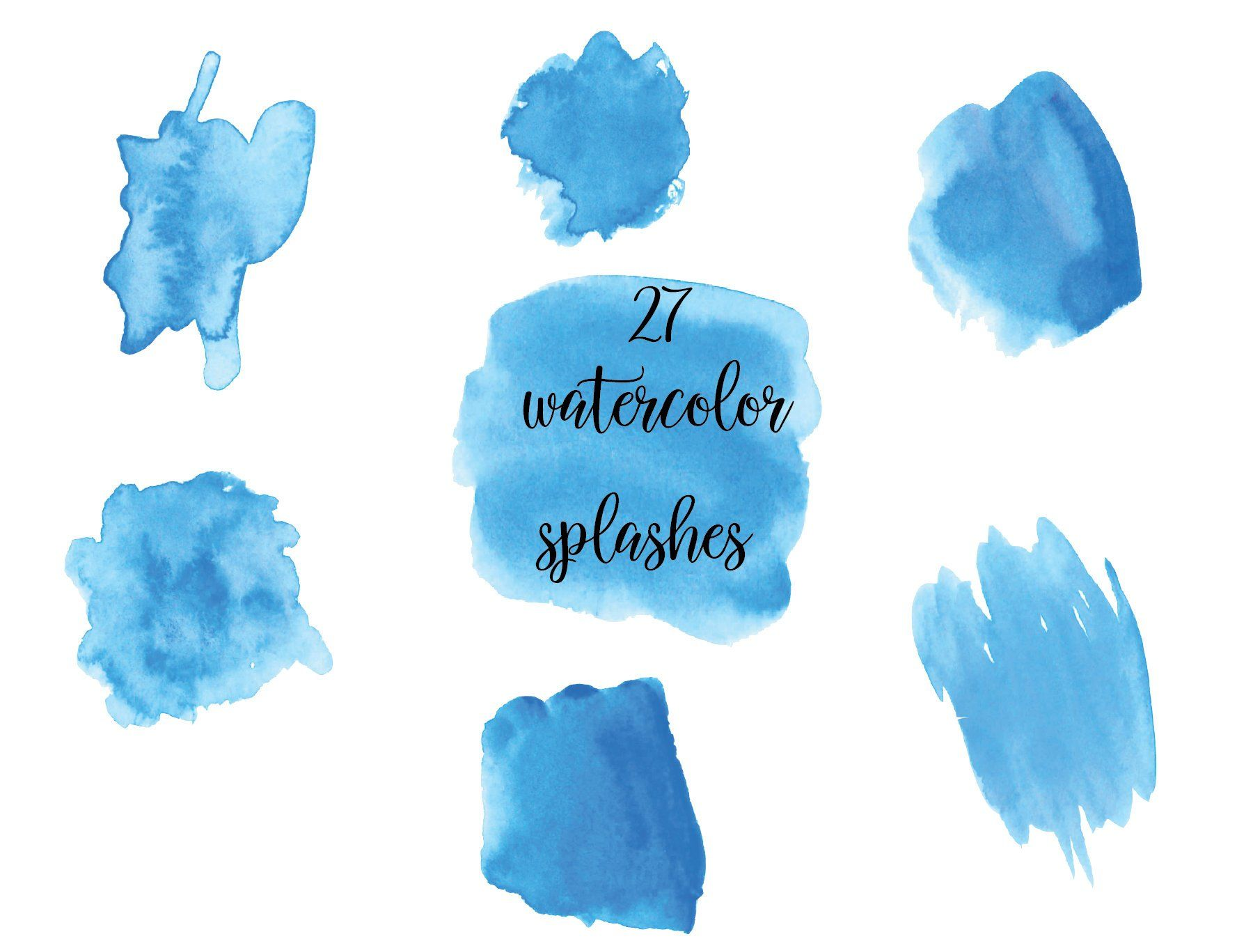 Blue Watercolor Splash Clipart Light Blue Watercolor Brush
