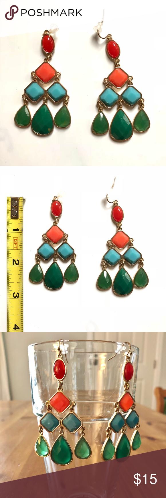 Liz claiborne colorful chandelier earrings liz claiborne liz claiborne colorful chandelier earrings arubaitofo Images