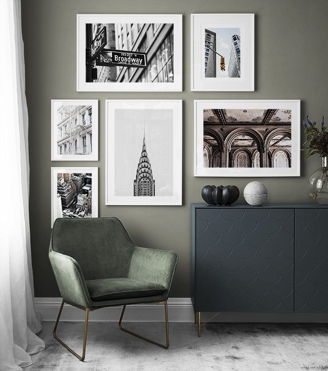 City details gallery wall