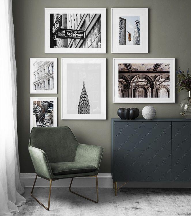 Inspiration Pour Murs Et Collages De Tableaux Suspension De Tableaux Idee Deco Mur Salon Idee Deco Mur Deco Murale Salon