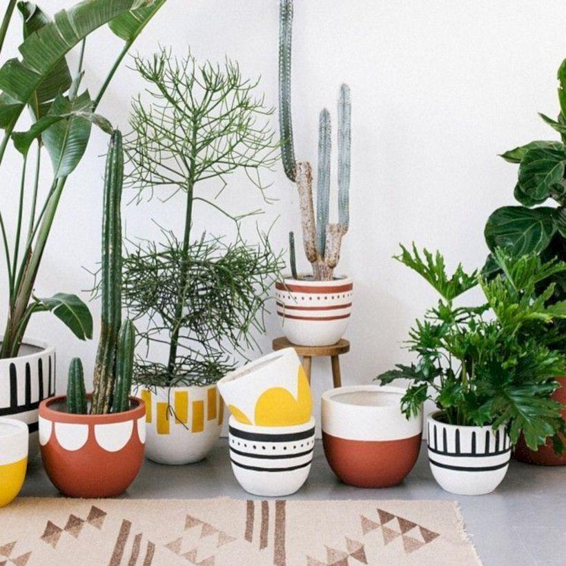 39 Modern Flower Pots Ideas For Indoor Use Plants Flower Pots Diy Flower Pots