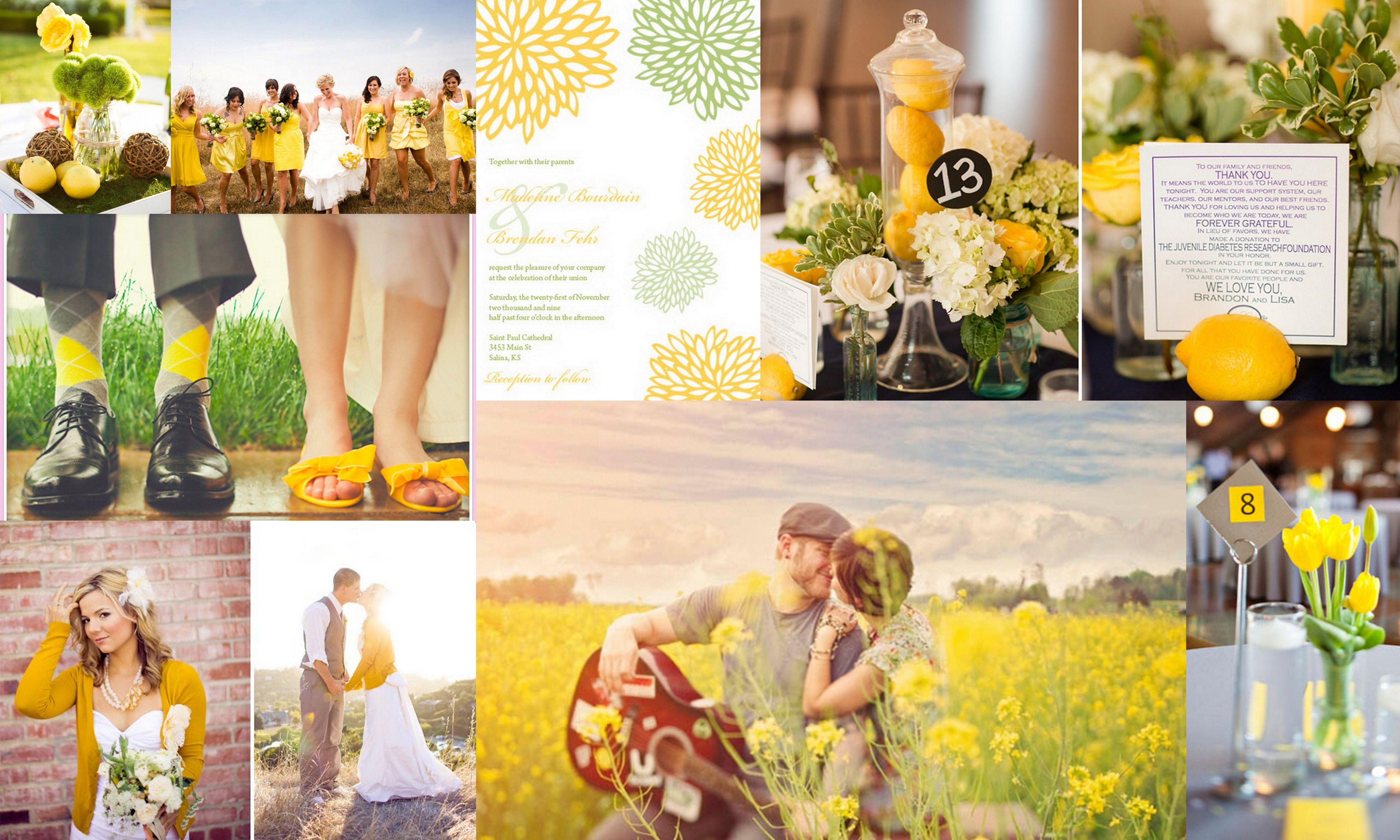 Yellow and Green Wedding | Wedding | Pinterest | Green weddings
