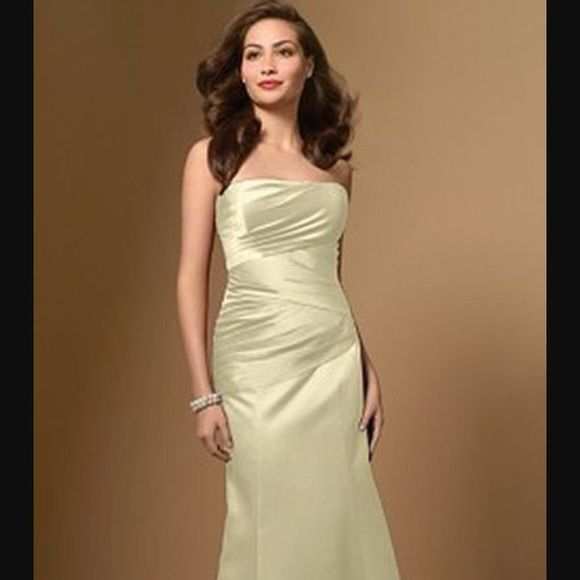 Alfred angelo lace up back bridesmaid dress