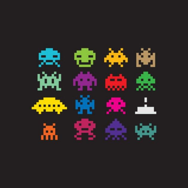 Freepik Graphic Resources For Everyone Pixel Art Space Invaders Game Space Invaders