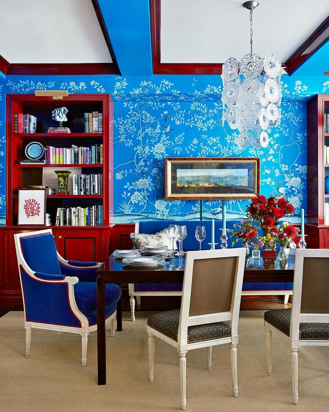 Interior ideas (With images)   Red dining room, Eclectic ...