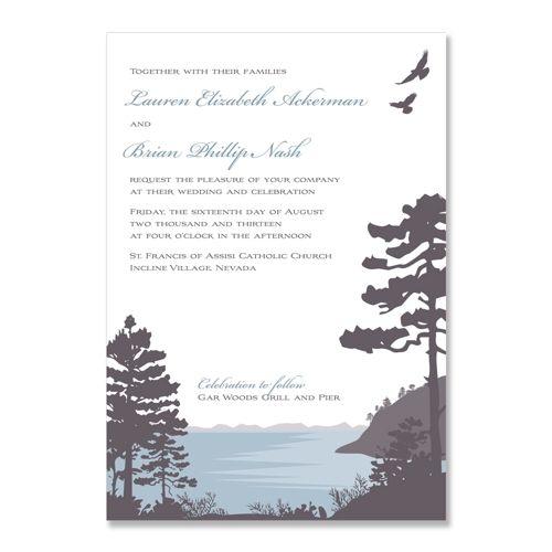 Lakeside Unique Wedding Invitation By The Green Kangaroo