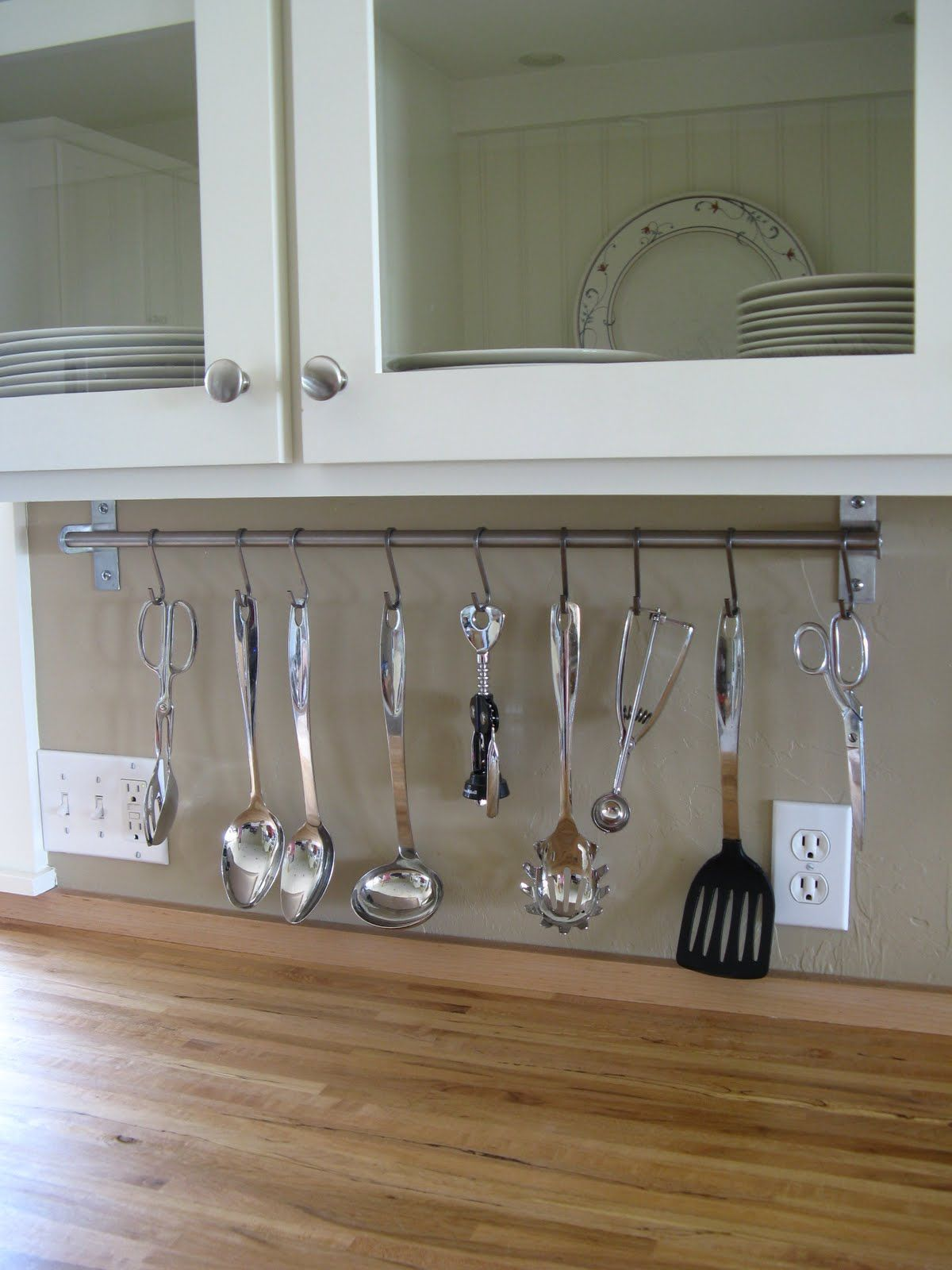 Make the most out of your kitchen space! Consider hanging utensils ...