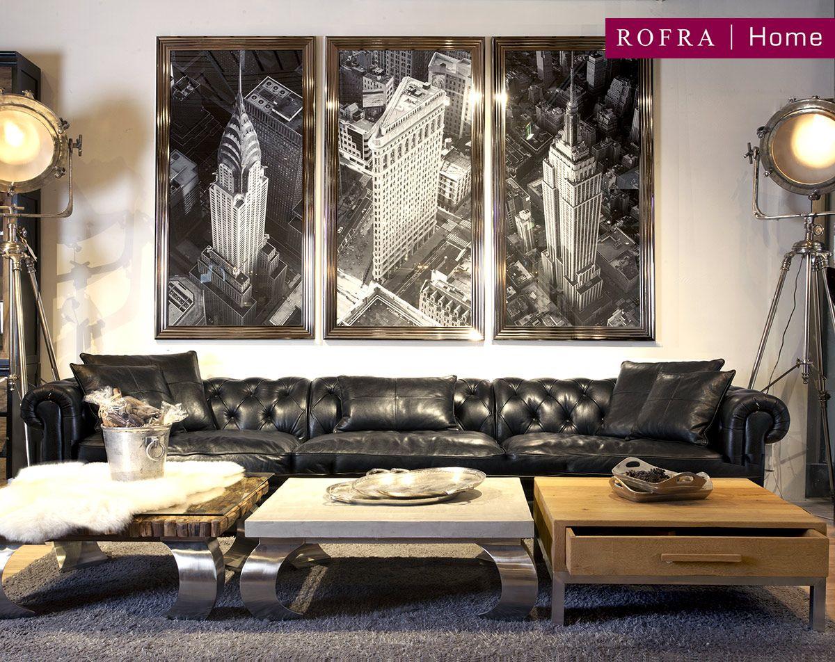 Wanddecoratie Drieluik New York Rofra Home Villa ArenA