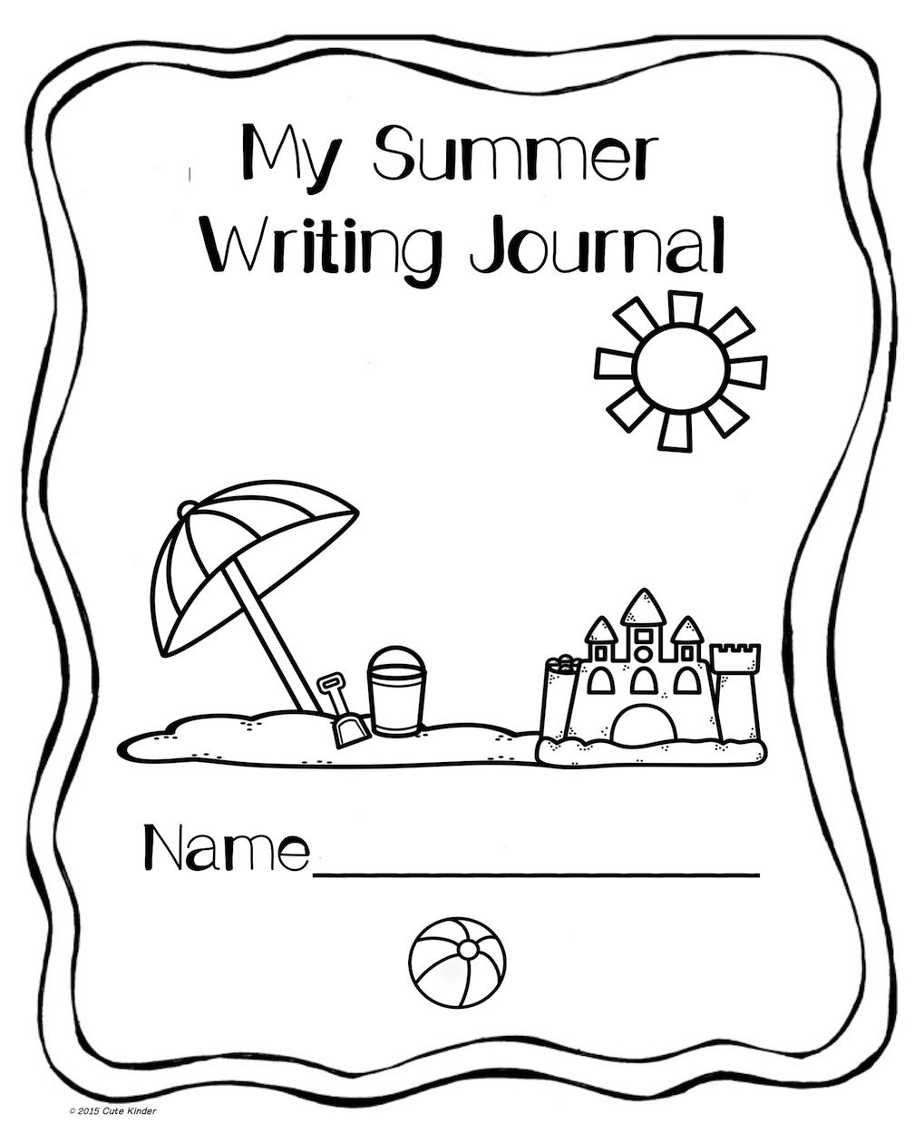 Writing Book Cover Printable ~ Summer writing free printables for journal covers