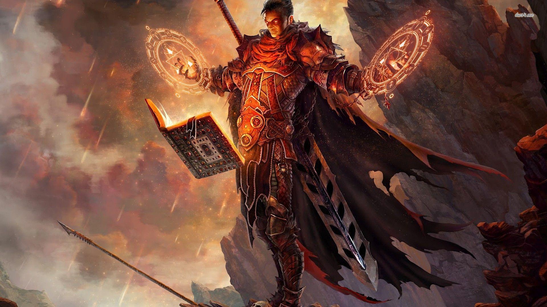 Mage Warrior Wallpaper Warriors Wallpaper Mage Dark Fantasy Art