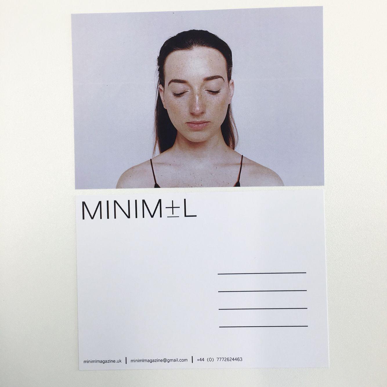 Minimal Magazine Promotional Postcards