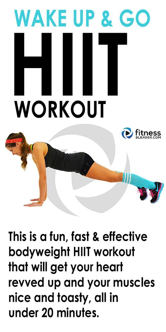 16 minute WAKE UP AND GO HIIT WORKOUT - At home total body no ...