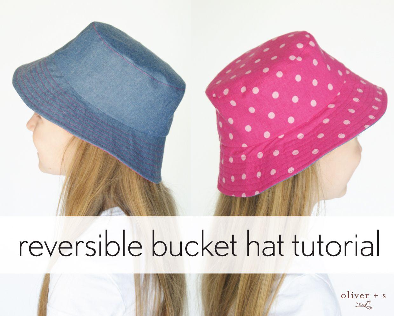 reversible bucket hat tutorial | Nähen, Nähideen und Mütze