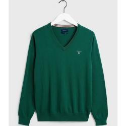 Photo of Gant Pullover mit V-Ausschnitt (grün) Gant